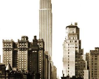 """1931 Empire State Building, New York City, NY Vintage Photograph 8.5"""" x 11"""""""