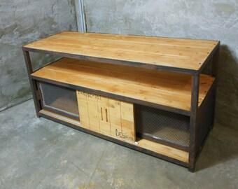 Furniture TV Arachnid custom steel and solid wood