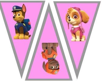Girl Paw Patrol Banner