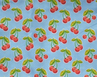 Cherries, Cherry, Fruit, Valance, Window Curtain, Window Valance, Window Treatment, New, Kitchen