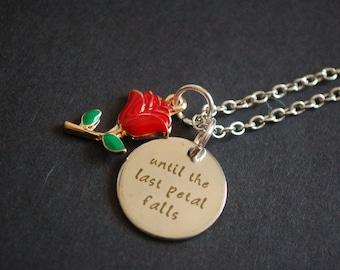 Until the last petal falls necklace