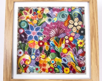 3d Quilled art 12 ×12 inch frame