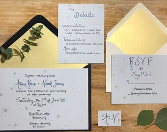 Sample - Celeste Wedding Invitation Suite