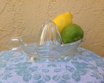Vintage Ribbed Glass Juice Reamer