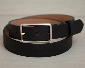 Leather Belt, Black Leather Belt, Black Womens Belt