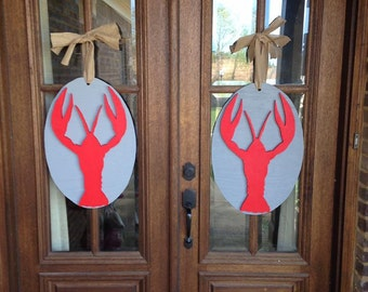 Crawfish Door Hangers