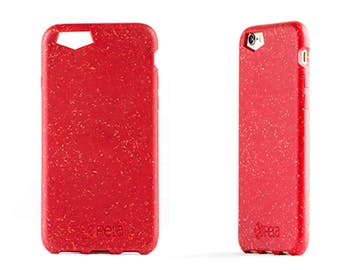 Coque iPhone 6 / 6S Rouge à base d'anas de lin