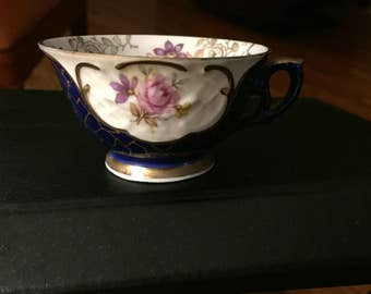 Fine China Winterling Cobalt Demitasse Bavaria teacup