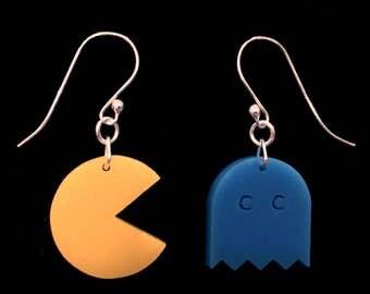 Laser Cut Pac Man Earrings