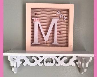 Personalised Letter frame keepsake gift Boy Girl Christening New Baby letter