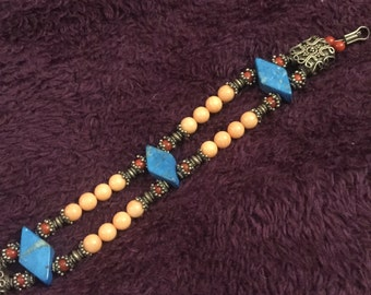 Turquoise coral stone bracelet from Croatia