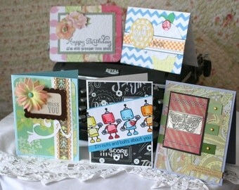 Greeting Cards-5 Handmade Assorted cards