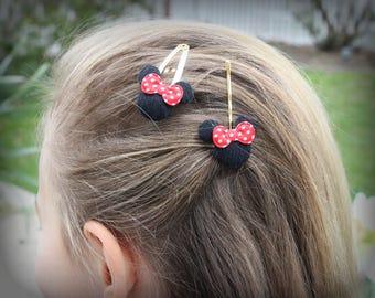 Girls Hair Clip Mmini Head Minnie Mouse  Elegant Hairpin