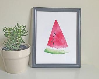 "Watermelon Vibe Print 8 x 10"" **FREE SHIPPING"