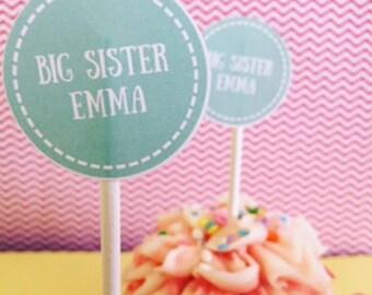 Custom Girl Cupcake Toppers