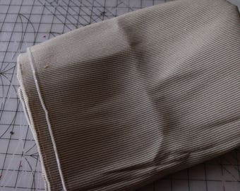 3 upholstery fabric in two-toned stripe Beige/olive  3