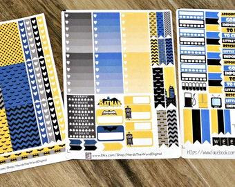 Batman Weekly Planner Kit for Erin Condren & Happy Planner ALL SIZES