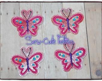 Pink Butterfly Felties Felt* Embellishments