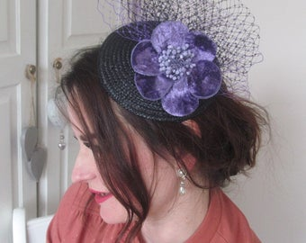 Vintage Inspired Black and Purple Fascintor