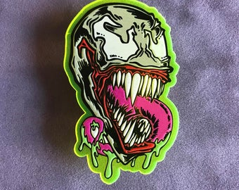 FKN RAD Venom Spiderman Acrylic lapel pin 1 of 100 made