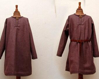 Tunic, wool, linen, medieval, Viking, RUS, Slaven, reenact, LARP, children, Gr128