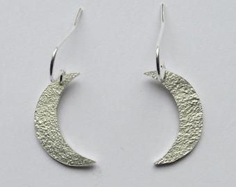 Moon earrings, silver moon earrings, crescent moon earrings, moon jewellery, silver crescent moon earrings