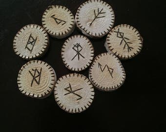 Bind Rune~Talisman~Charm~Birch Wood~Witchcraft~Wicca~Pagan~Choose one.
