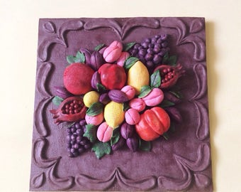 Paintings Fruit Painting On Wood Fruit Home Decor Pictures On The Wall Gift  For Her Wall