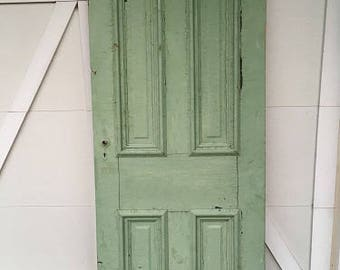 NEW ITEM: Early 1900's door with rare arched 4 panel.