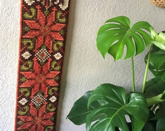 Vintage Poinsettia wall hanging