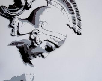 Achilleas stencil spray paint