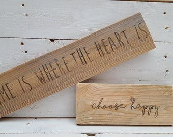 Personalised rustic pallet wood plaques