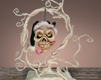 Ghost Tree with Detachable Skelly Ornament