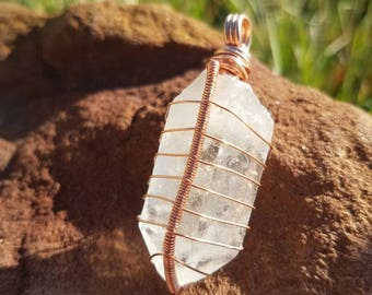 Clear Quartz Crystal, Crystal Necklace, Raw Crystal Necklace, Wire Wrapped Clear Quartz, Clear Quartz Crystal, Crystal Jewelry, Gift For Him