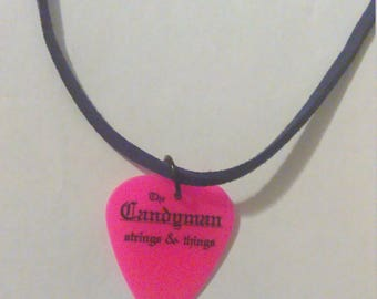 Neon Guitar Pick Necklace
