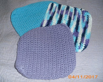 Purple & Blue Dishcloth Set