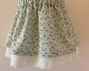 Cute double layer skirt.