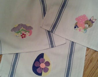 Kitchen Towels with Easter Theme