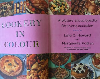 1960 Aust Women's Weekly Cookery in Colour Hard cover Vintage kitchen Vintage cookbook