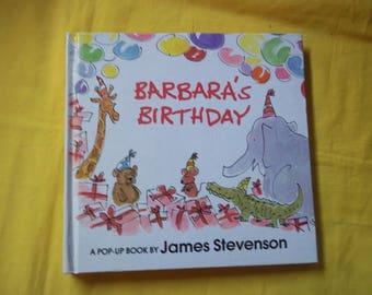 Barbara's Birthday, a pop-up book by James Stevenson