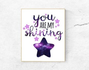 you are my shining star digital print instant download