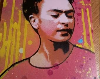 Frida Kahlo spray paint