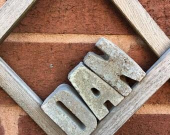 Concrete Letters Industrial Look Personalised Letters Handmade Grey Concrete (Rough Look Concrete)