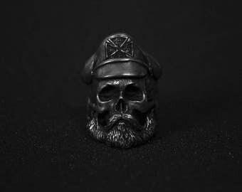 Abandon Captain skull ring