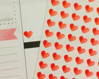 Heart Planner Sticker