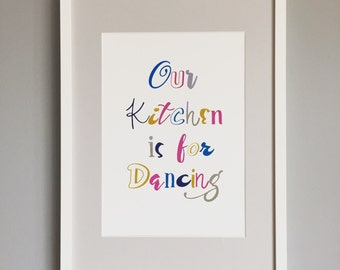 Typography Print/ Typography Wall Art/ Gifts/ Kitchen Wall Art