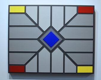 Shades of Grey 18 - original contemporary mixed media painting of acrylic on wood