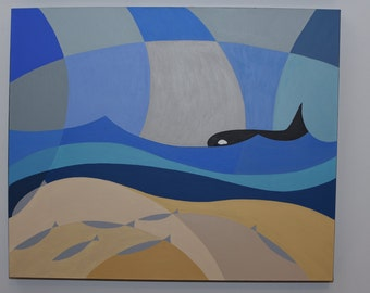Orca - original painting of acrylic on canvas