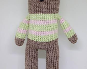 Bear crocheted bag/blanket