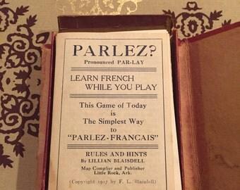 Vintage 1917 Parlez? French language gaming cards